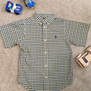 Ralph Lauren Polo Yellow & Navy Button Down